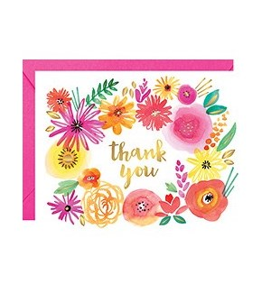 Wildflower Foil A2 Thank You Single Card