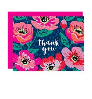 Poppies A2 Thank You Single Card