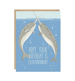 Narwhals A2 Thank You Single Card