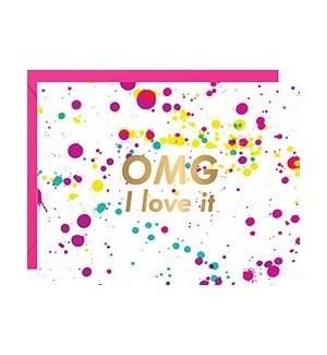 OMG Love It Foil A2 Single Card