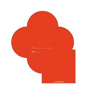 Red Mini Petal Gift Card Holder