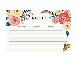 Garden Party 4x6 Recipe Card (Pk20)