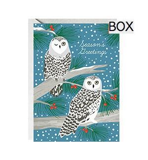 Snowy Owls Glitter A6 S/10