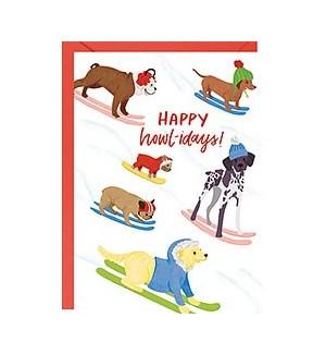Happy Howl-idays A6 Single Card