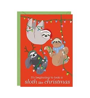 Holiday Sloths A6 Single Card