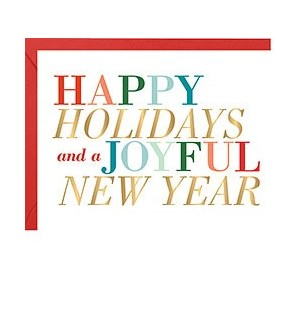 New Year Colorful Type FOIL A2 Single Card