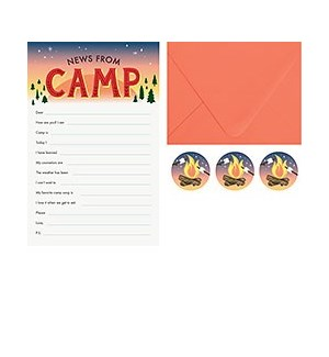 News from Camp Stationery Set