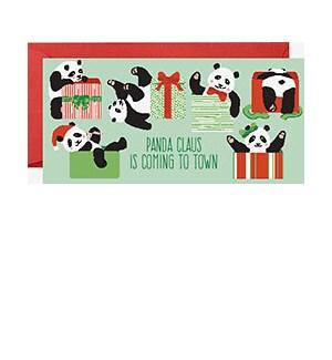 Panda Claus Money Card (single)