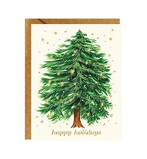 Starry Tree Happy Holidays Foil A2 Single Card