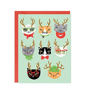 Holiday Cat-itude A2 Single Card