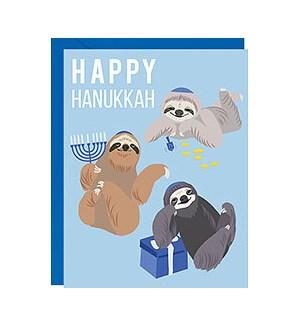 Hanukkah Sloths A2 Single Card