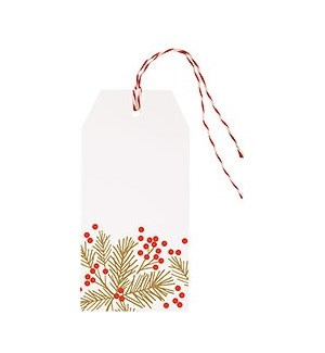 Red Berrries & Gold Branches FOIL Hang Tag (S/10)