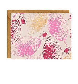 Pink and Gold Leaves A2 Note S/10