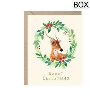 Reindeer Wreath FOIL A2 (S/10)