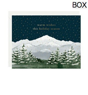 Warm Wishes Mountain Scene FOIL A2 (S/10)