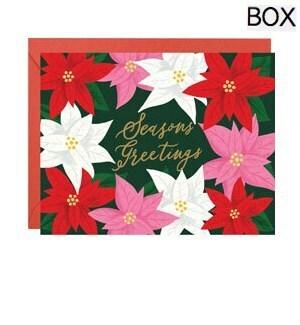 Poinsettias Seasons Greetings FOIL A2 (S/10)