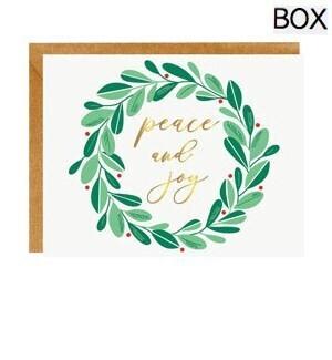 Peace and Joy Wreath FOIL A2 (S/10)
