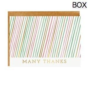 Watercolor Stripes Thanks FOIL 4bar (S/10)
