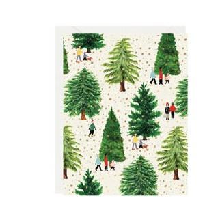 Christmas Tree Farm Foil A2 Single Card
