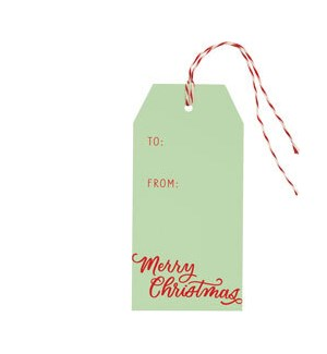 Merry Christmas Script on Mint Hang Tag (S/10)