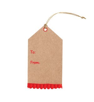 Red Poms Tag S/3
