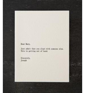 Dear blank mary/joseph w/ green env