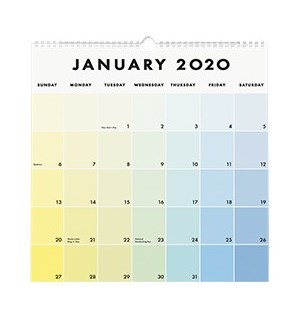 2019-2020 Paint Chip Calendar