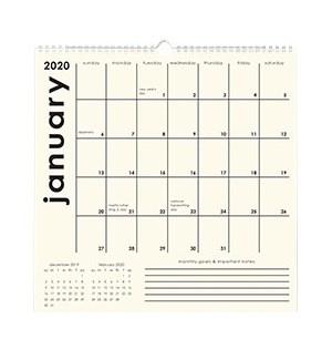 2019-2020 Classic Grid Calendar