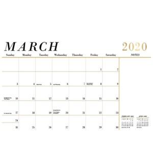 2019-2020 Foil Blotter Calendar