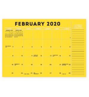 2019-2020 Colorful Blotter Calendar