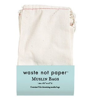 Muslin Drawstring Bag (5 Pk)