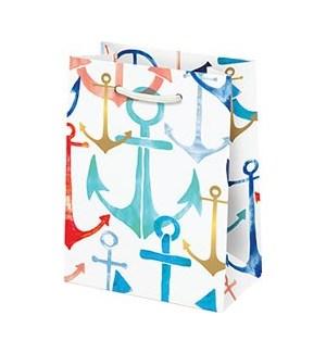 Watercolor Anchors Small Bag