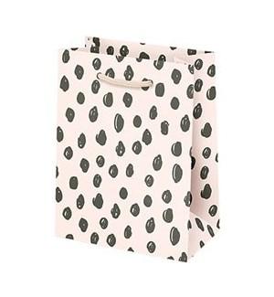 Scribble Dot on Pink Small Bag