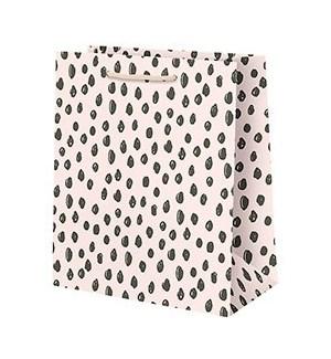 Scribble Dot on Pink Large Bag