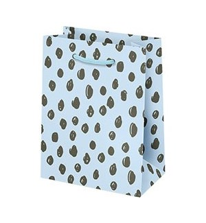 Scribble Dot on Blue Small Bag