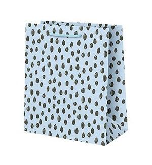 Scribble Dot on Blue Large Bag