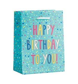 Birthday Confetti Foil Small Bag
