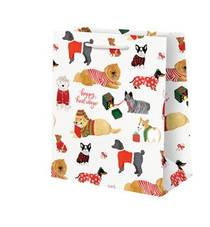 Happy Howlidays Dogs Medium Bag
