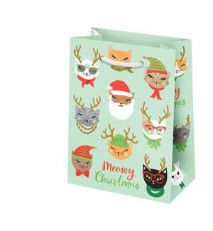 Meowy Christmas Small Bag