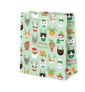 Meowy Christmas Medium Bag