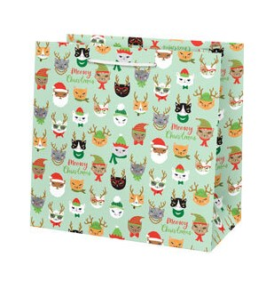 Meowy Christmas Large Bag