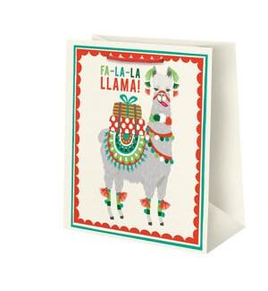 Holiday Llama Medium Bag