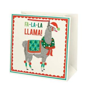 Holiday Llama Large Bag