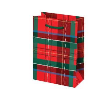 Tartan Plaid with Foil Small Bag