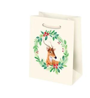 Reindeer Wreath Small Bag