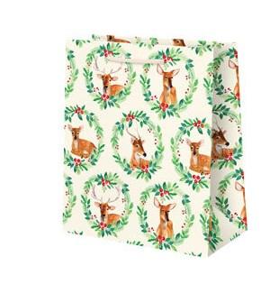 Reindeer Wreath Medium Bag