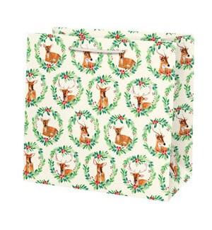 Reindeer Wreath Large Bag