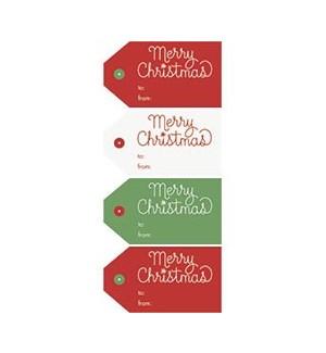Merry Christmas Sticker Tag