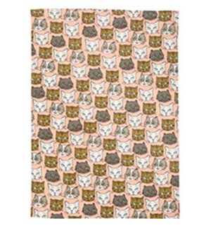 CAT TEA TOWEL (S/3) - WNP