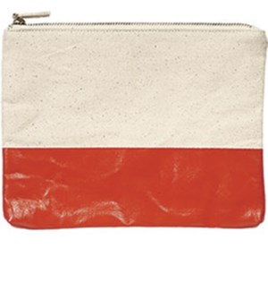Colorblock Pouch Persimmon